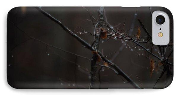 Tree Limb With Rain Drops 2 IPhone Case by J Riley Johnson