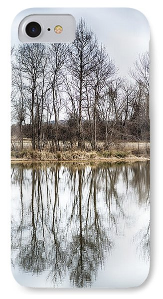 Tree Line In Winter  IPhone Case