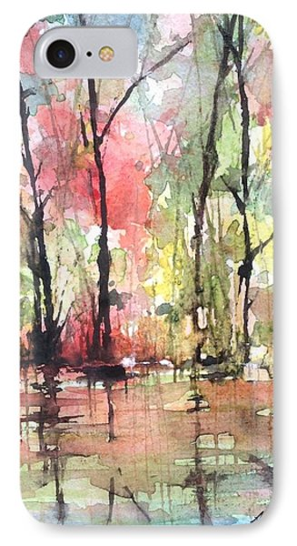 Tree Line Reflections IPhone Case by Robin Miller-Bookhout