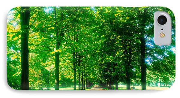 Tree-lined Road Dresden Vicinity Germany IPhone Case