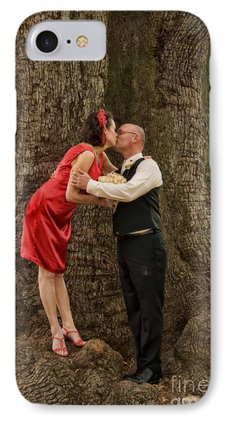 Tree Lovers- Bride And Groom Phone Case by Kathleen K Parker