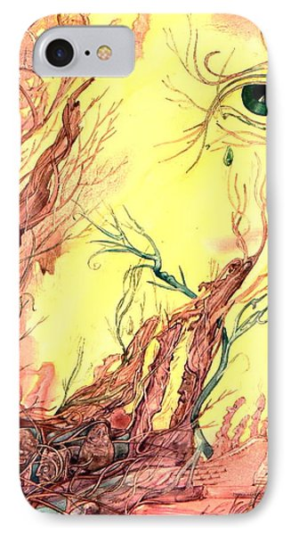 IPhone Case featuring the painting Tree Of Knowledge by Mikhail Savchenko