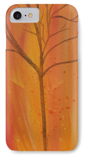 IPhone Case featuring the painting Tree Of Three Coral by Robin Maria Pedrero