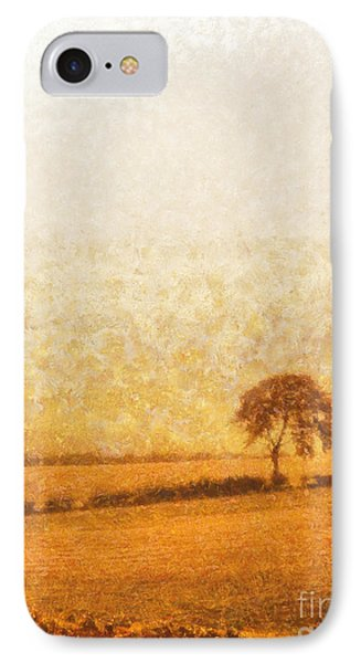 Tree On Hill At Dusk Phone Case by Pixel  Chimp