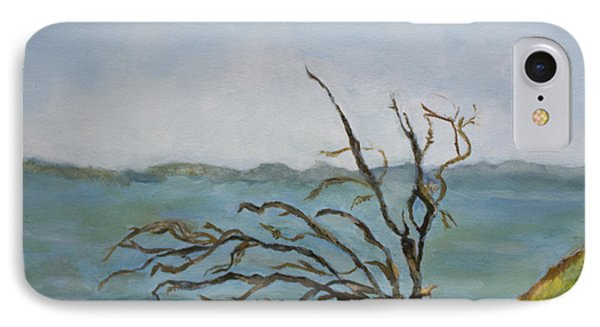 Tree On The Hudson River IPhone Case by Aleezah Selinger