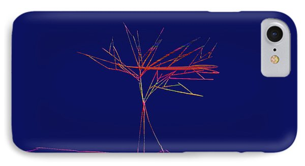 IPhone Case featuring the digital art Tree Outline by Asok Mukhopadhyay
