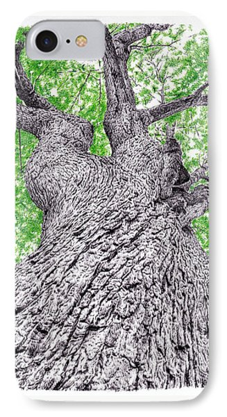 Tree Pen Drawing 4 IPhone Case by Remrov