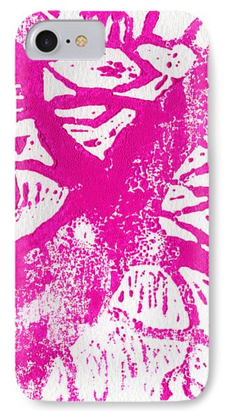 Tree Print Pink IPhone Case by Christina Rahm