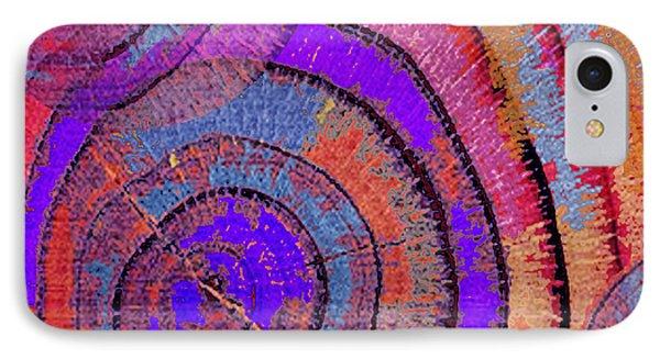 Tree Ring Abstract 2 Phone Case by Tony Rubino