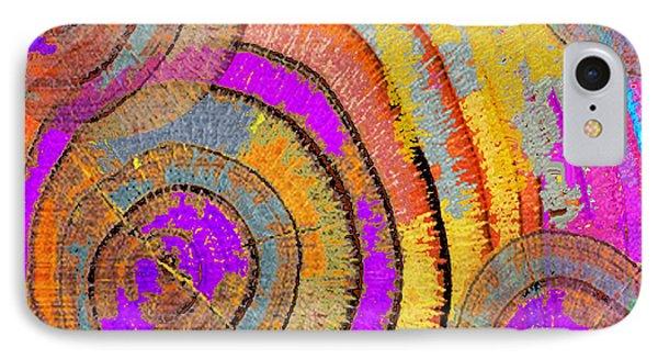 Tree Ring Abstract Horizontal Phone Case by Tony Rubino