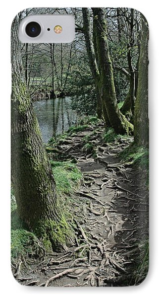 Tree Route Pathway IPhone Case by Kathy Spall