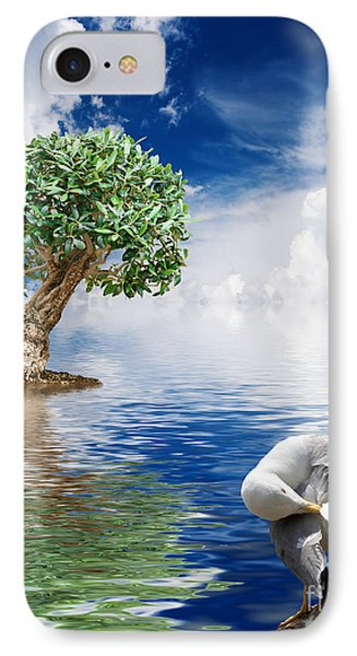 Tree Seagull And Sea IPhone Case