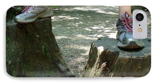 Tree Stump Stilts IPhone Case by Kerri Mortenson