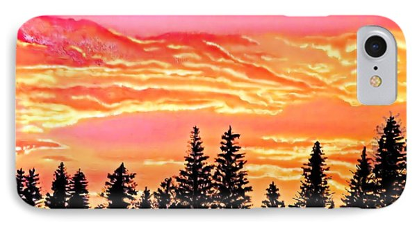 Tree Sunset IPhone Case