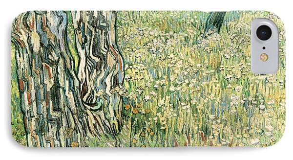 Tree Trunks In Grass Phone Case by Vincent van Gogh