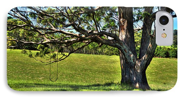 Tree With A Swing Phone Case by Kaye Menner