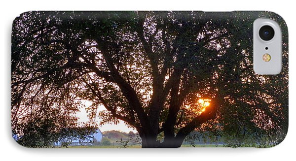 Tree With Fence. IPhone Case by Joseph Skompski