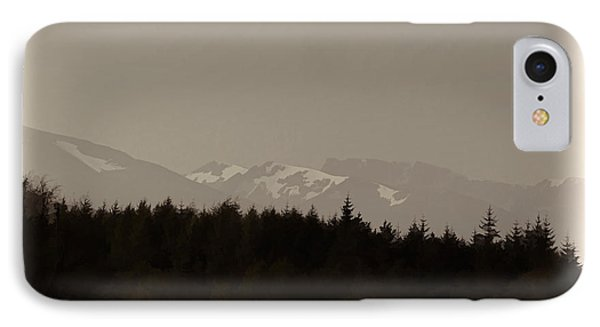 Treeline With Ice Capped Mountains In The Scottish Highlands IPhone Case by Ashish Agarwal