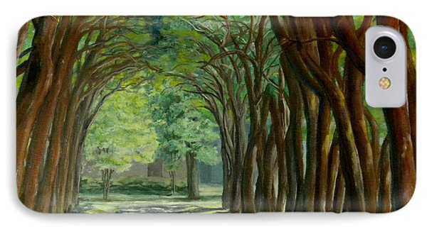 Treelined Walkway At Lsu In Shreveport Louisiana IPhone Case