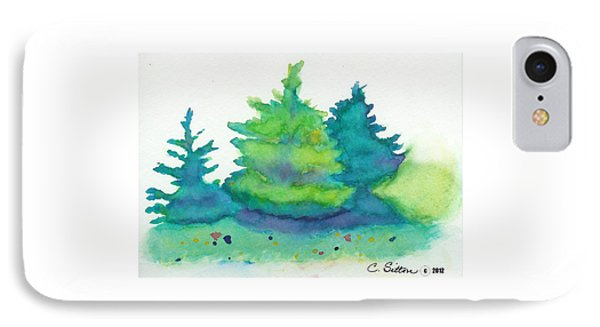 IPhone Case featuring the painting Trees 2 by C Sitton