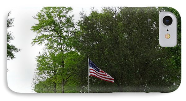 Trees And Flag Phone Case by Joseph Baril