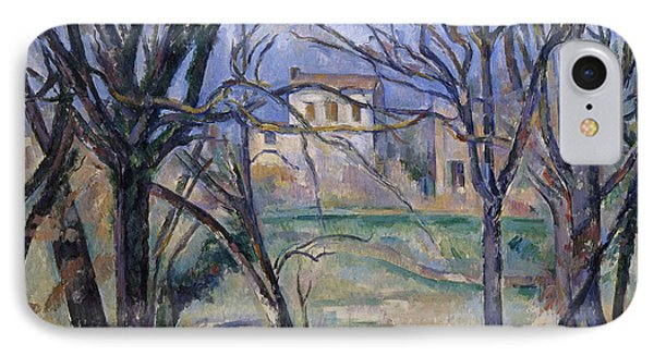 Trees And Houses, 1885-86 IPhone Case by Paul Cezanne