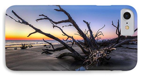 Trees At Driftwood Beach Phone Case by Debra and Dave Vanderlaan