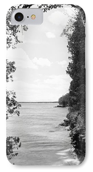 Trees At The Lakeside, Cave Point IPhone Case by Panoramic Images
