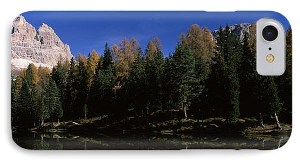 Trees At The Lakeside, Lake Misurina IPhone Case by Panoramic Images