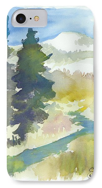 IPhone Case featuring the painting Trees by C Sitton