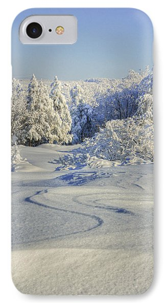 Trees Covered With Snow In A Sunny Winter Day IPhone Case