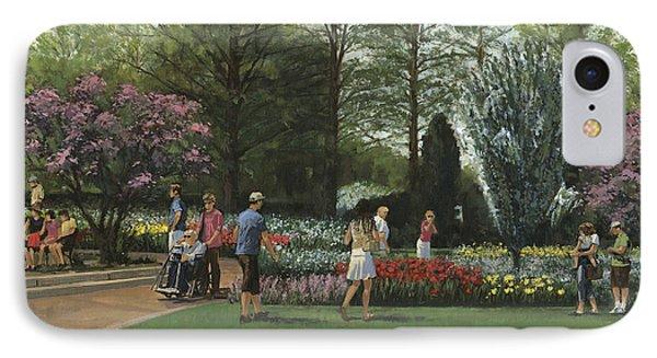 St. Louis Botanical Garden Trees IPhone Case by Don  Langeneckert