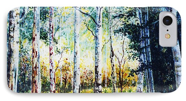 IPhone Case featuring the painting Trees by Hartmut Jager