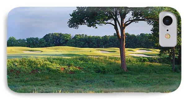 Trees In A Golf Course, Heron Glen Golf IPhone Case by Panoramic Images