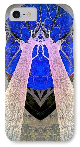 Trees In Silo IPhone Case by Karen Newell