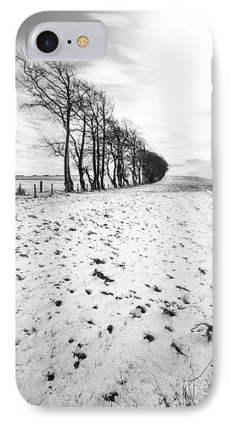 Trees In Snow Scotland II IPhone Case by John Farnan