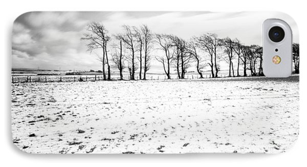 Trees In Snow Scotland Iv IPhone Case by John Farnan