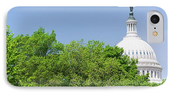 Trees In Spring Covers U.s. Capitol IPhone Case