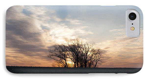 IPhone Case featuring the photograph Trees In Sunrish by Dawn Romine