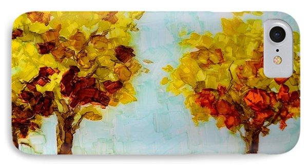 Trees In The Fall Phone Case by Patricia Awapara