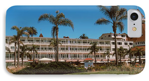 Trees Outside A Hotel, Hotel Del IPhone Case by Panoramic Images