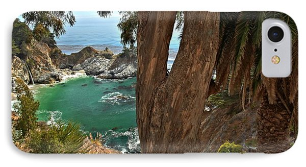 Trees Over Mcway Falls IPhone Case by Adam Jewell