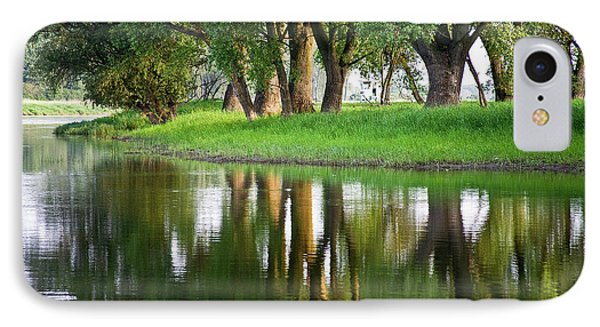Trees Reflection On The Lake Phone Case by Heiko Koehrer-Wagner