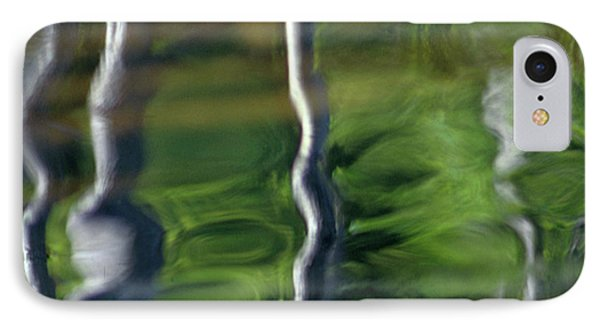 Trees Reflections On The River Phone Case by Heiko Koehrer-Wagner