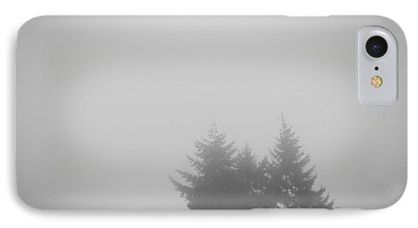 Treetops In Fog IPhone Case by John Rossman