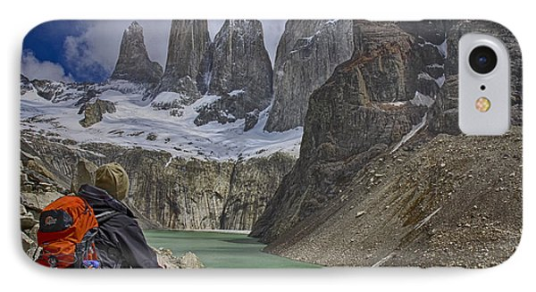 Trek To Torres Del Paine IPhone Case by Gary Hall