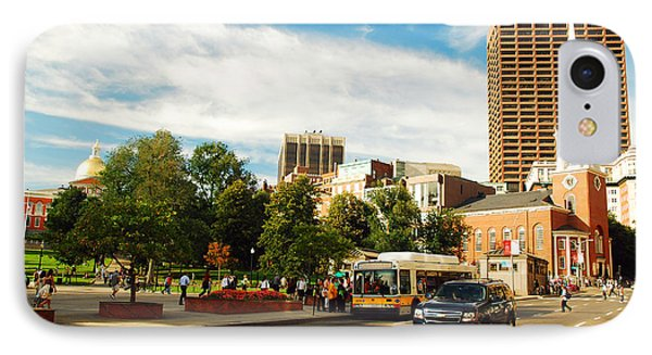 Tremont Street In Boston IPhone Case by James Kirkikis