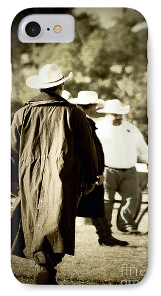 Trenchcoat Cowboy Phone Case by Trish Mistric