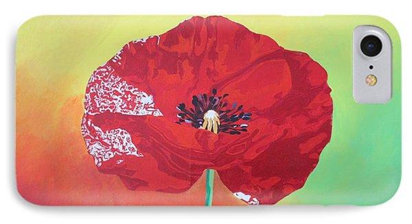 Trendy Poppy  Phone Case by Tracey Harrington-Simpson