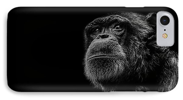 Chimpanzee iPhone 7 Case - Trepidation by Paul Neville